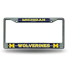 """Bling"" License Plate Frame - University of Michigan"