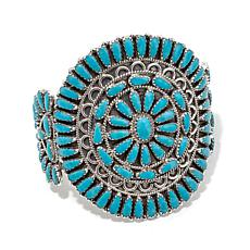 Chaco Canyon Kingman Turquoise Cluster Cuff Bracelet