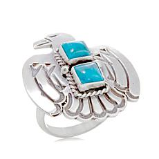 "Chaco Canyon Southwest Turquoise ""Thunderbird"" Ring"