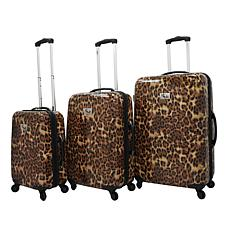 Chariot Leopard Print 3-piece Luggage Set