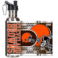 Cleveland Browns Stainless Steel Water Bottle with Meta
