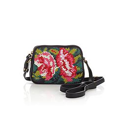 Clever Carriage Company Leather Embroidered Crossbody