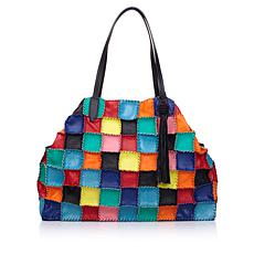 Clever Carriage Witzend Patchwork Leather Shopper