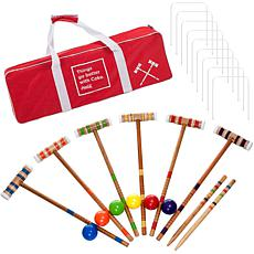 Coca Cola 24-piece 6-Player Croquet Set