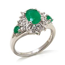Colleen Lopez 1.37ct Emerald and White Topaz Ring
