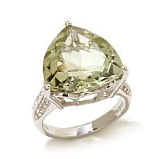 Colleen Lopez 7.94ct Topaz & Triangular Prasiolite Ring