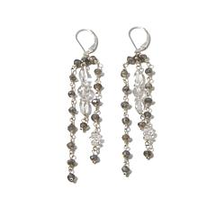 Deb Guyot Herkimer Quartz and Gem Drop Earrings