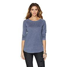 DG2 by Diane Gilman Burnout Bejeweled Top