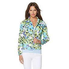 DG2 by Diane Gilman SuperStretch Lite Floral Jacket