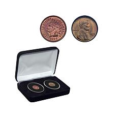 Double-Dated 1909 Indian Head and Lincoln Cent Coin Set