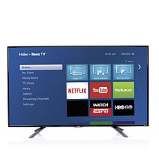 "Haier 49"" Smart LED HDTV w/Built-In Roku and HDMI Cable"