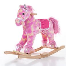 Happy Trails Plush Pink Rocking Pony