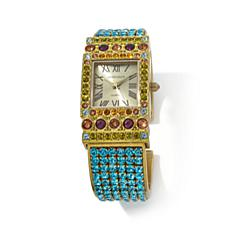 "Heidi Daus ""Timely Fashion"" Pavé Crystal Cuff Watch"