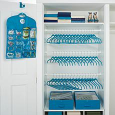Huggable Hangers® 100pc Closet and Storage Set - Chrome