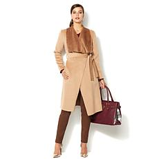 IMAN Global Chic Runway Glam Luxury Wrap Coat