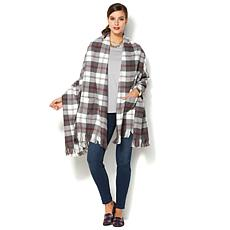 IMAN Global Chic Runway Glam Perfect Plaid Luxury Wrap