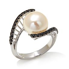 Imperial Pearls 10-11mm Cultured Pearl and Spinel Ring