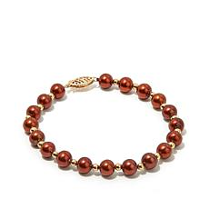 Imperial Pearls 14K Gold Brown Cultured Pearl Bracelet