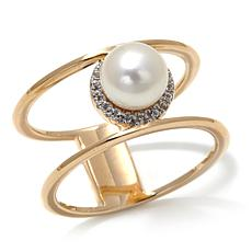 Imperial Pearls Cultured Pearl 14K Double Shank Ring