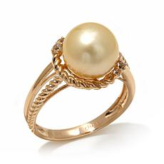 Imperial Pearls Golden South Sea Cultured Pearl Ring