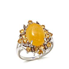 Jade of Yesteryear Yellow Jade and Multigem Ring