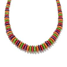 "Jay King Multicolored Turquoise and Coral 18"" Necklace"