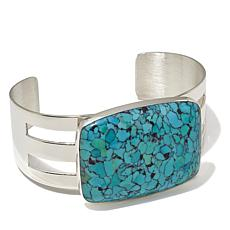 Jay King Spider Web Turquoise Cuff Bracelet