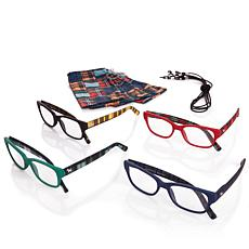 Jeffrey Banks Set of 4 Plaid Readers