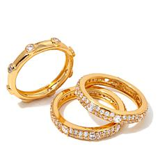 "Joan Boyce ""Tasteful and Trendy"" 3-piece Band Ring Set"