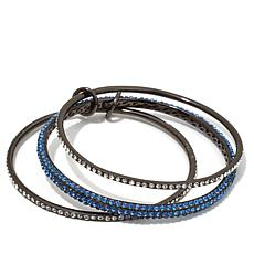 "Joan Boyce ""Triple Treat"" Pavé Interlocked Bracelets"