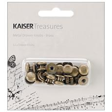 Kaisercraft Treasures 12 Metal Drawer Knobs