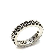 King Baby Sterling Silver Industrial Texture Ring
