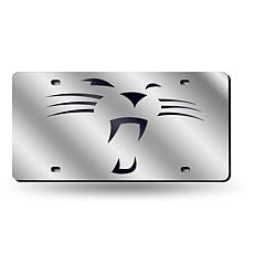 "Laser-Engraved Plate - Carolina Panthers ""Whiskers"""