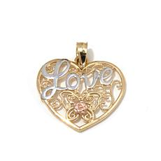 Michael Anthony® 10K Gold Butterfly Love Heart Pendant