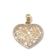 Michael Anthony® 10K Gold Heart-Shaped Flower Pendant