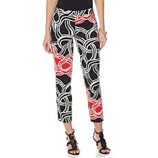 N Natori Twisted Medallion Printed Crop Pant