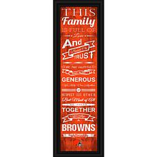 "NFL Family Cheer 24"" x 8"" Framed Print - Browns"