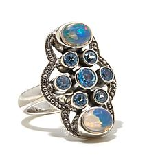 Nicky Butler Ethiopian Opal and Sky Blue Topaz   Ring