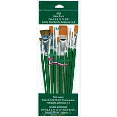 One-Stroke Brush Set - 10 Brushes