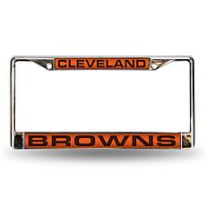 Orange Chrome License Plate Frame - Cleveland Browns