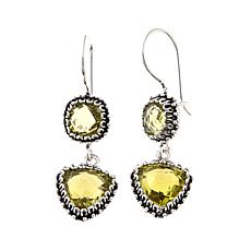 Ottoman Silver Jewelry 7.86ctw Lemon Quartz Earrings
