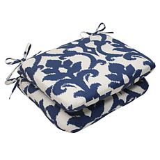 Pillow Perfect Set of 2 Bosco Rounded Cushions - Navy