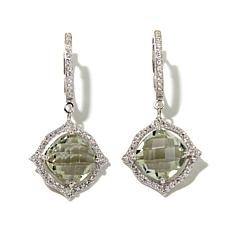 Rarities 6.69ct Prasiolite and Zircon Drop Earrings