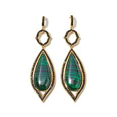 Rarities Malachite and Black Spinel Vermeil Earrings