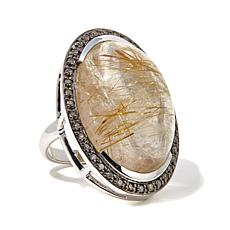 Rarities Rutilated Quartz and Champagne Diamond Ring