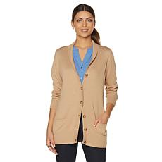 Samantha Brown Boyfriend Cardigan with Pockets