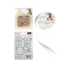 Sara Signature Little Angel Dies, Ribbon & Wooden Pegs