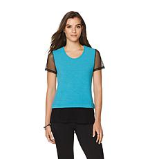 Serena Williams Jersey Mesh Hi-Low Hem Tee