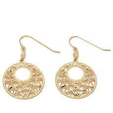 Sevilla Gold® 14K Round Diamond-Cut Textured Earrings