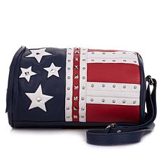 Sharif Americana Leather Studded Barrel Crossbody